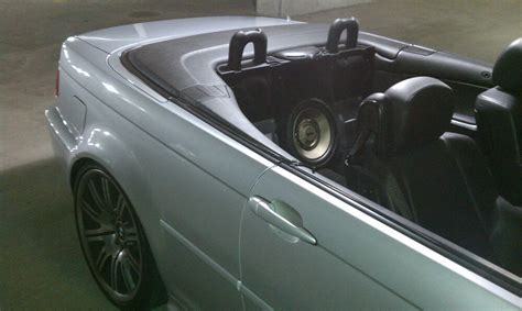 bmw e46 convertible subwoofer install