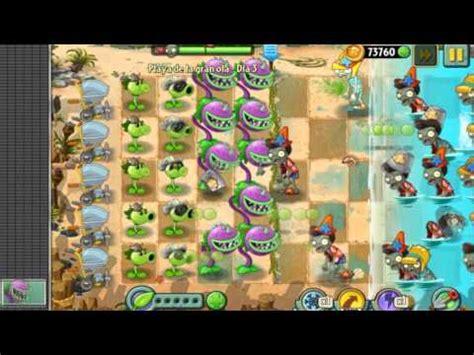 plants vs zombies 2 playa de la gran ola dia 3 espa 241 ol