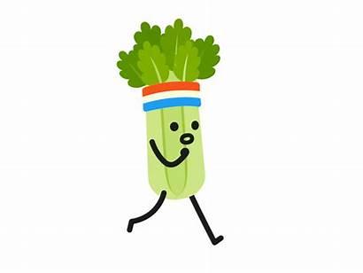 Celery Clipart Gifs Broccoli Run Transparent Dribbble