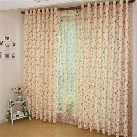 country window curtains with flower images for eco friendly