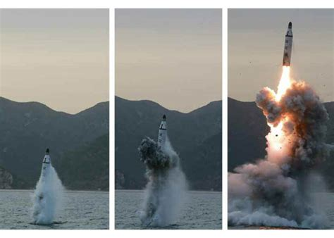 North Korea Testfires A Submarinelaunched Ballistic Missile