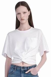 cf4c07d5f6c88 Tee Shirt Alexander Wang. welded barcode short sleeve shirt top ...