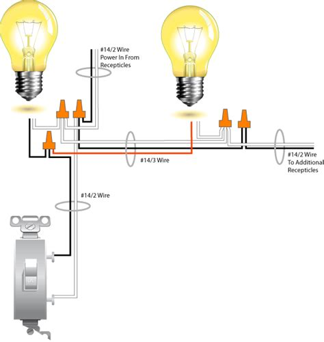 how to wire two lights to one switch how to run two lights from one switch electrical