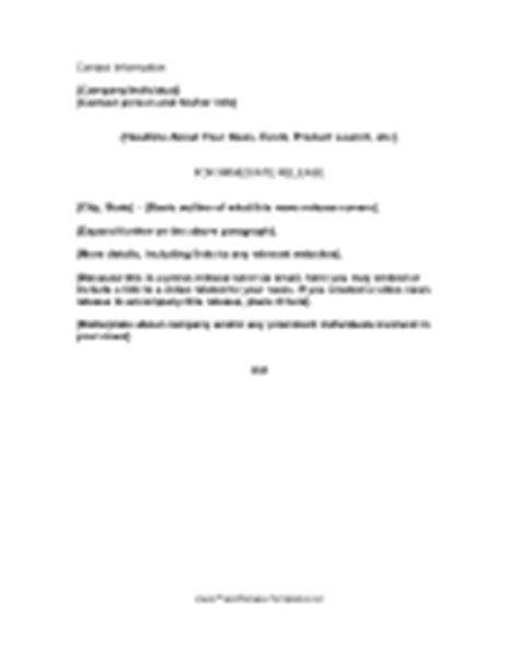 press release email template press release templates