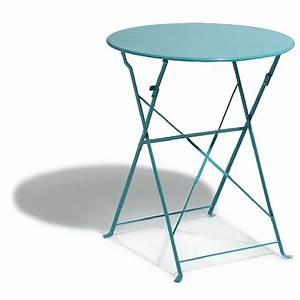 Table De Camping Gifi : table de jardin ronde pliante 2 personnes m tal bleu ~ Melissatoandfro.com Idées de Décoration