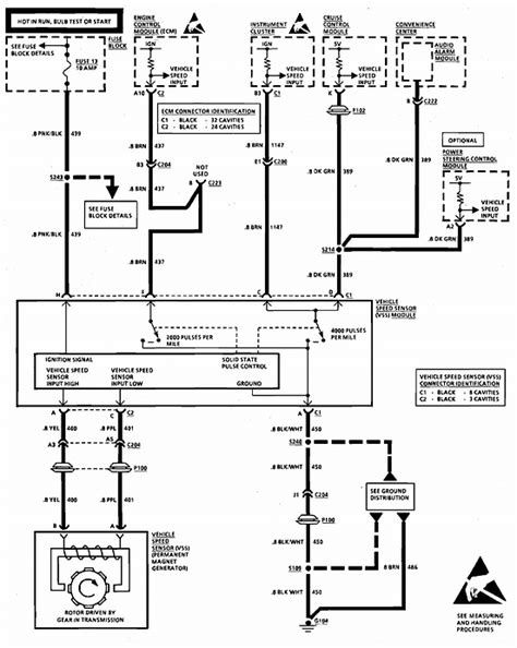 Silverado Speedometer Wiring Diagram by On A 92 Caprice The Speedometer 2 Transponder Wires 1