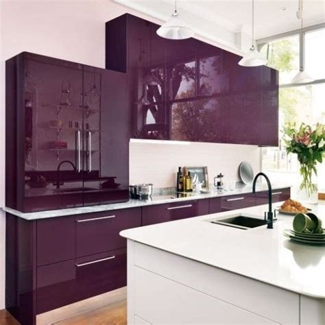 purple color kitchen purple cabinets kitchen 1681