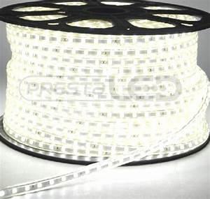 Ruban Led Blanc Chaud 220v : de 1 a 10 metres ruban led 220v etanche ip67 blanc froid ~ Edinachiropracticcenter.com Idées de Décoration