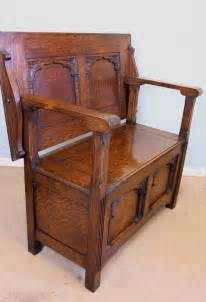 Antique Oak Monks Bench, Settle, Hall Seat  Antiques Atlas