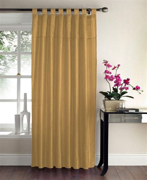 gc sequin swirl panel tab top curtains gold