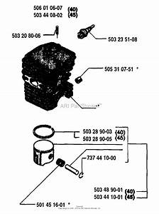 Husqvarna 45  1995 Cylinder