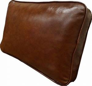Antique pillows sofa cushions real genuine leather filled for Sofa cushion covers ebay