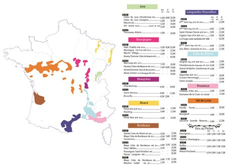 Carte Des Vins De by Pin Menu Restaurant Carte Des Vins On