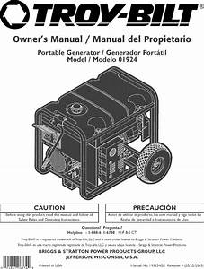 Troybilt 01924 User Manual Generator Manuals And Guides