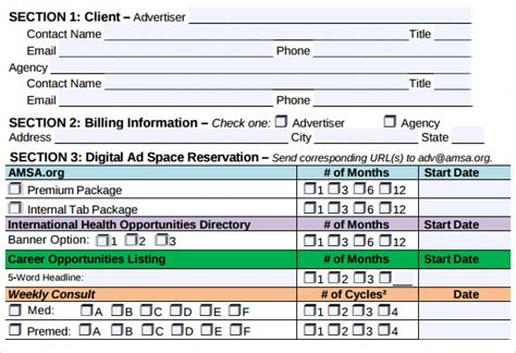 advertising contract templates samples examples