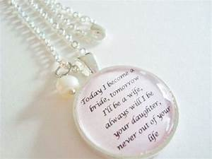 mother of the bride pendant quote pendantmother of the With wedding gift from mom to daughter