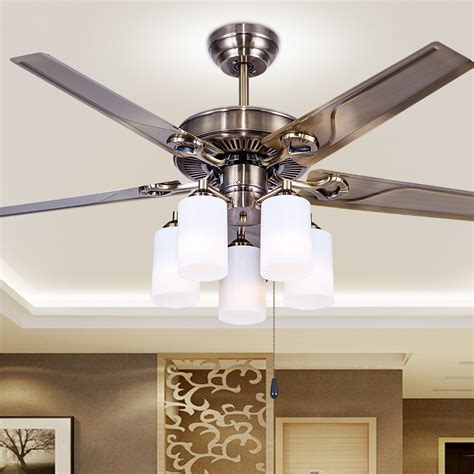 dining room ceiling fans with lights european style retro iron leaf dining room bedroom ceiling