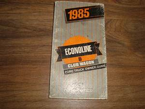 1985 Buick Econoline Club Wagon Truck Owners Guide Glove