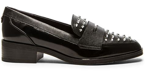 circus  sam edelman lali faux leather loafers  black