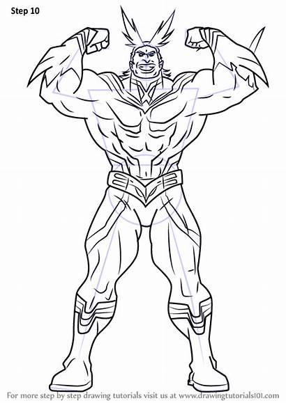 Academia Hero Might Draw Drawing Boku Step
