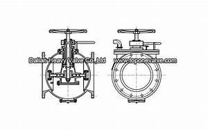 Ball Valve With Butterfly Disk For Gases