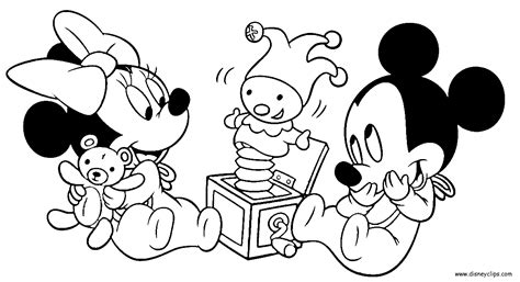 Kleurplaat Baby Mickey Mouse by Disney Babies Coloring Pages Mickey Minnie Goofy