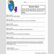 Hard Easter Quiz On Resurrection Of Jesus