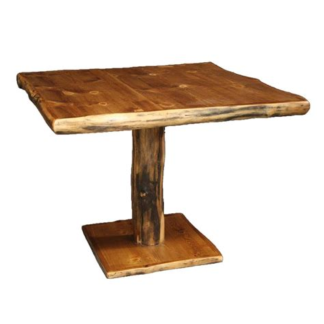 furniture kitchen tables log pedestal table country rustic cabin wood