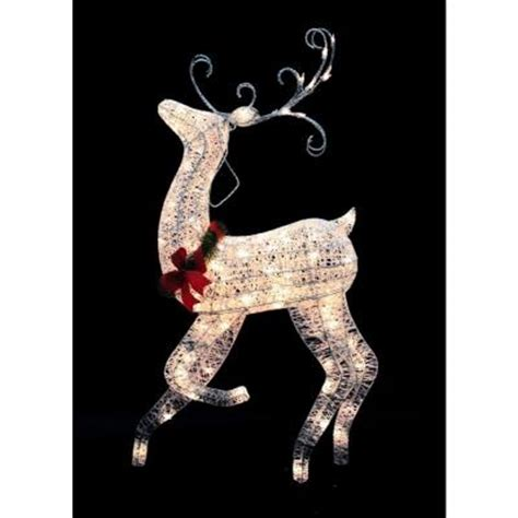 lighted grapevine reindeer outdoor christmas home accents 48 in white grapevine reindeer outdoor decor w12h1070 the home depot