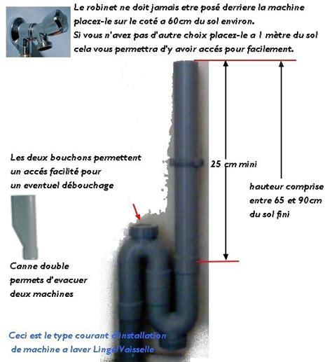 tuyauterie evier cuisine info schéma d 39 évacuation et d 39 installation de machine a