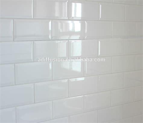 white matte beveled subway tiles 7 5 15cm 3x6 quot view matte