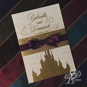 disney wedding invitation disney fairy tale weddings With purple disney wedding invitations