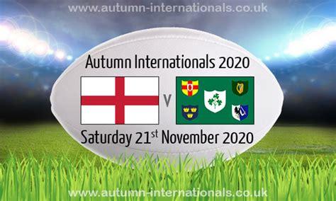 England v Ireland | Autumn International | 21 Nov 2020