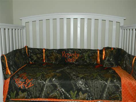Mossy Oak Crib Bedding by Camo Mossy Oak And Orange Minky Dot Baby Crib Bedding Set
