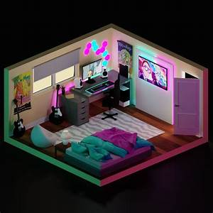 Rick, U0026, Morty, Theme, 3d, Isometric, Room, Inspiration, In, 2020