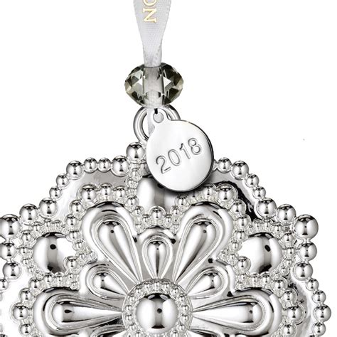 waterford silver snowflake ornament  silver superstore