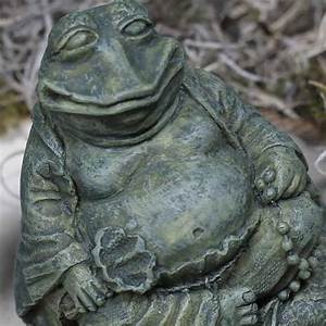 Miniature Buddha Frog Statue - Table and Shelf Sitters