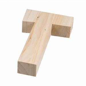 775quot chunky wooden letter t 9190 692t craftoutletcom With chunky wooden letters
