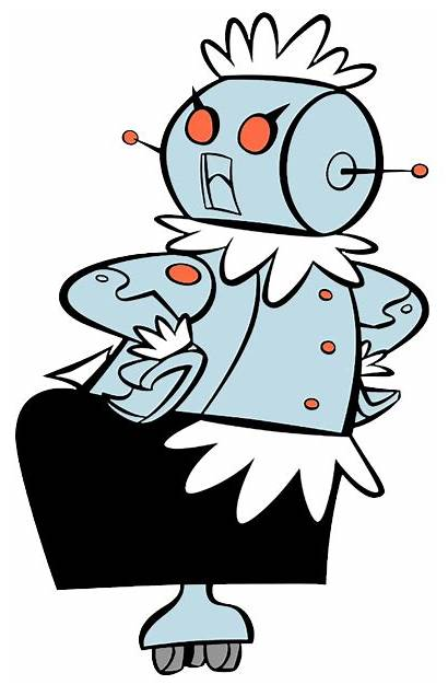 Jetsons Clipart Rosie Cartoon Robot Cleaning Clip