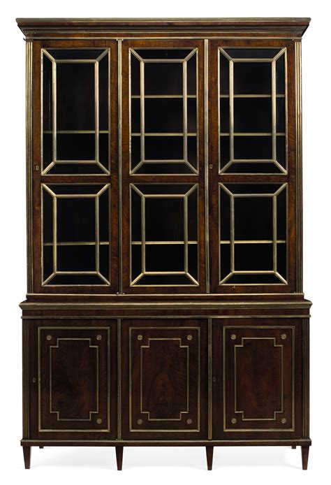 brass bookcase a russian brass mounted mahogany bookcase 19th 20th