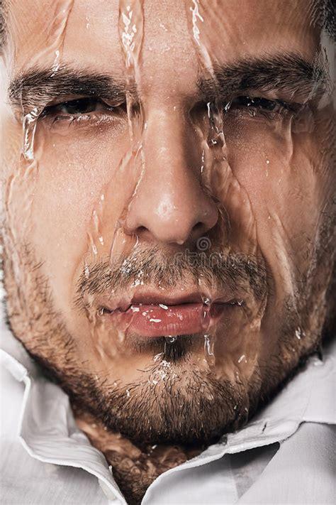 wet man  flowing water stock image image  ideas
