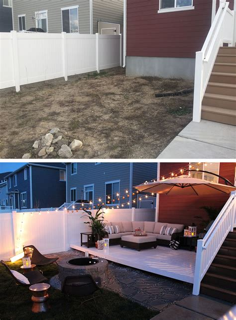 Transformation Budget by Seeking Alexi Backyard Transformation Before After