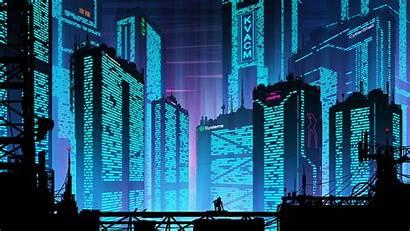 Cyberpunk Futuristic Port Wallpapers Background Cityscape Resolution