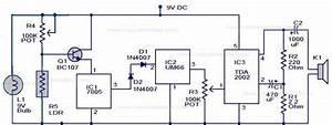 Free Circuit Diagrams  Fire Alarm Ldr