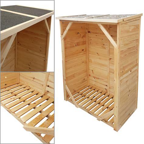 kaminholzregal außen mit rückwand kaminholzregal mit r 252 ckwand kaminholzunterstand brennholzregal unterstellplatz ebay