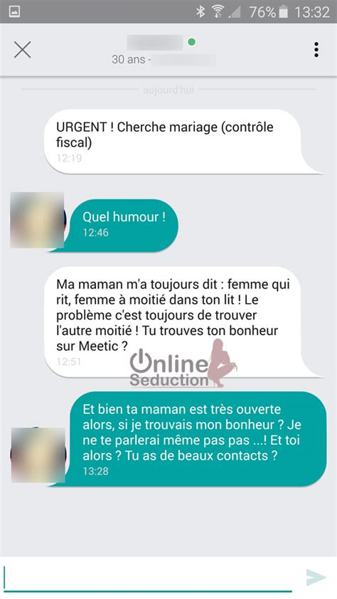 message meetic exemple