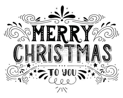 merry christmas retro poster  hand lettering