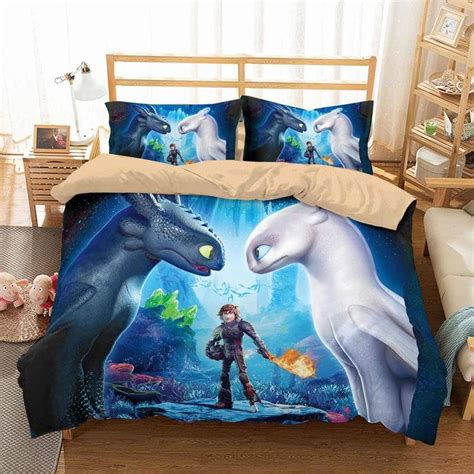customize   train  dragon bedding set duvet