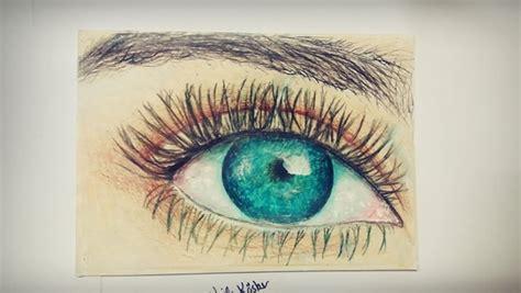 draw  eye  crayon step  step