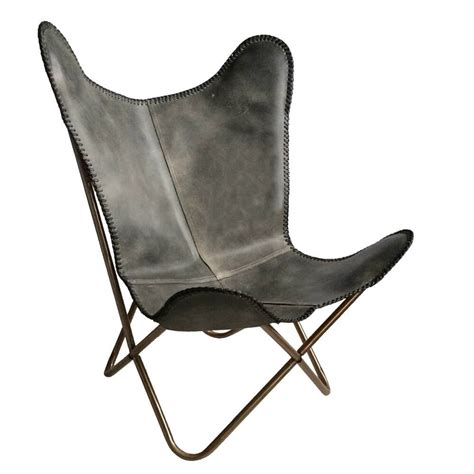 butterfly chair vintage grau 187 stil